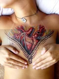 Heart Zipper Tattoo Pictures, Images and Photos