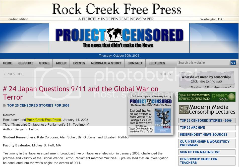 Rock Creek Free Press - Project Censored